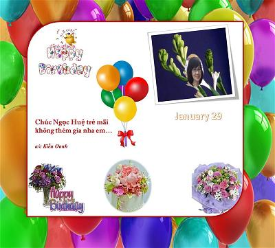happy birthday Ngoc Hue